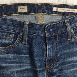 Ag Adriano Goldschmied Jeans - AG the angel bootcut jeans distressed patches